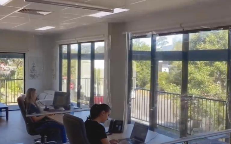 remote control office desk screens