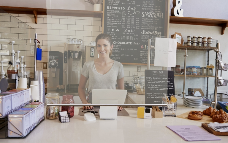 cafe counter protective screen